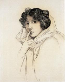 Marguerite Burnat-Provins - Autoportrait